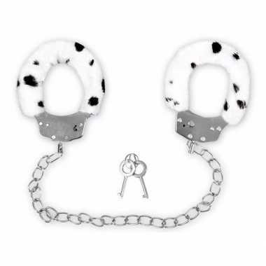 Feest pluche enkelboeien dalmatier print voor volwassenen
