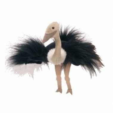 4f6182391b8171 Pluche handpop struisvogel 22 cm | Feestwinkel-online.nl