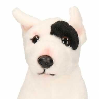 Feest pluche knuffel bull terrier zittend