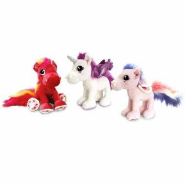 15324200aa5b09 Pluche knuffel paard lichtroze 30 cm | Feestwinkel-online.nl