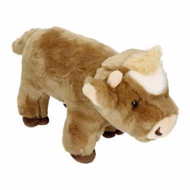 Feest pluche koe bruin 30 cm