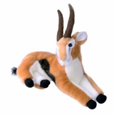 Feest pluche liggende gazelle 30 cm
