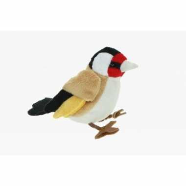 Feest pluche zangvogel putter knuffel 12 cm