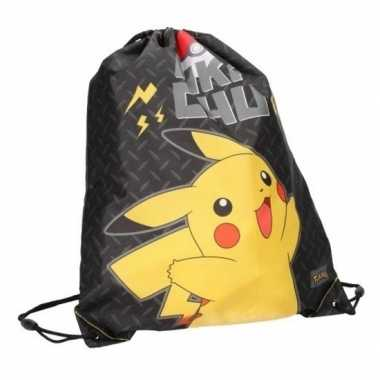 Feest pokemon pikachu rugtas gymtas met rijgkoord 44 x 37 cm