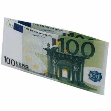 Feest portemonnee 100 eurobiljet