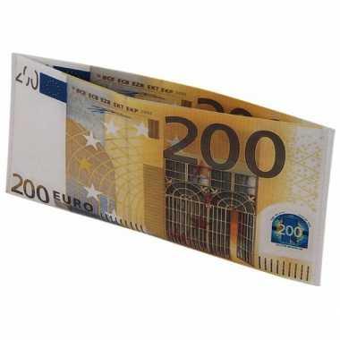 Feest portemonnee 200 eurobiljet