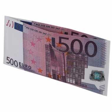 Feest portemonnee 500 eurobiljet