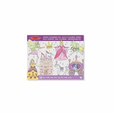 Feest prinses mega kleurboek voor meisjes