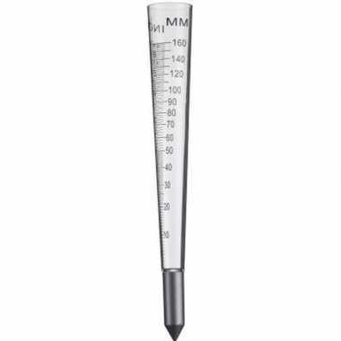 Regenmeter muur/grond 30 cm van plexiglas