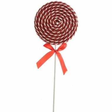 Rood/witte lolly kerstversiering hangdecoratie 36 cm