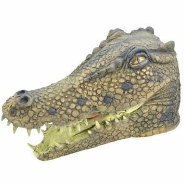 Feest rubber masker krokodillen kop