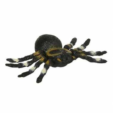 Rubberen tarantula zwart 10 cm