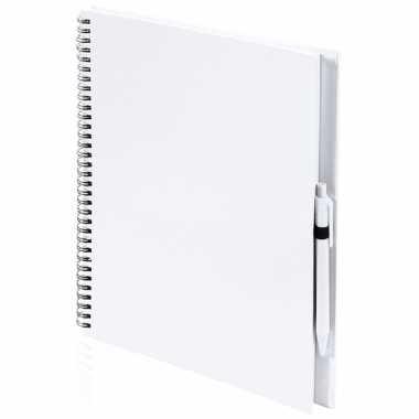 Schetsboek/tekenboek wit a4 formaat 80 vellen inclusief pen