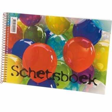 Schetsboek/tekenboek wit papier a5 formaat