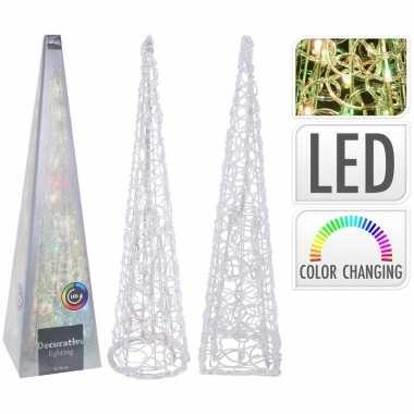 Sfeerpiramide 60 cm 30 led lampjes veranderen kleur