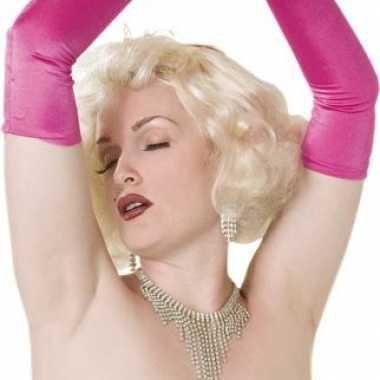 Feest sixties damespruik blond