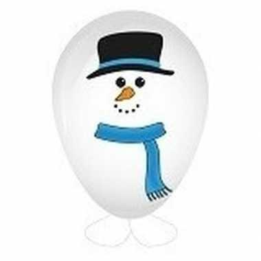 Sneeuwpop ballon versieren 27 cm
