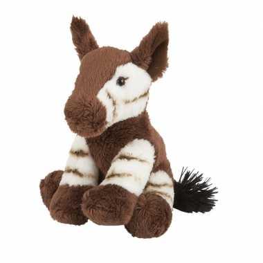 Feest speelgoed artikelen okapi knuffelbeest bruin 16 cm