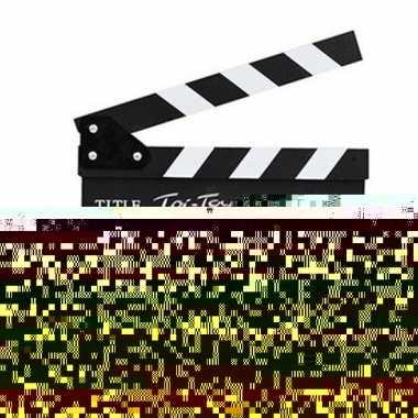 Speelgoed filmklapper incl. krijtje en borstel 21 x 23 cm