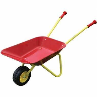 Speelgoed kruiwagen rood/geel voor kinderen
