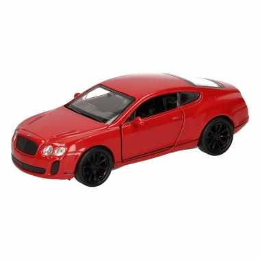 Feest speelgoed rode bentley continental supersports auto 12 cm
