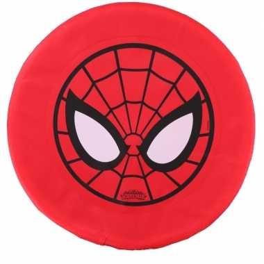 Feest spiderman schuim frisbee rood 42 cm