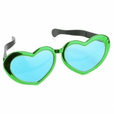 St. patricks day hartjes verkleed bril 30 cm voor volwassenen