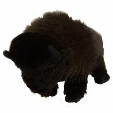 Feest staande knuffel bizon 30 cm
