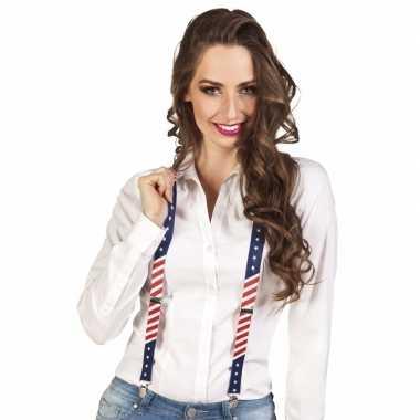 Feest stars and stripes usa bretels