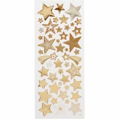 Feest sterren stickers goud 52 stuks