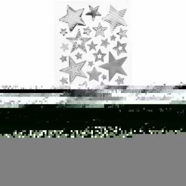 Feest sterren stickers zilver 52 stuks