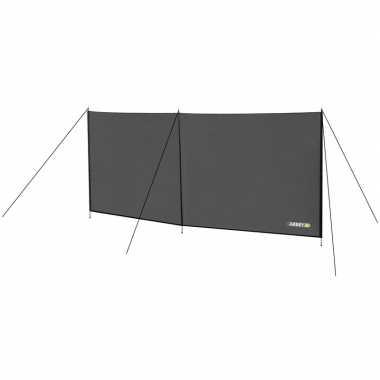 Strand/camping windscherm grijs 300 x 140 cm