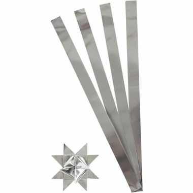 Feest stroken papier zilver 73 cm