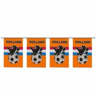 Feest thema oranje voetbal vlaggenlijn 10 meter