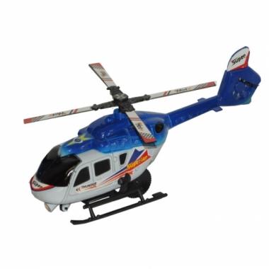 Feest thunder superior blauwe speel helikopter 21 cm