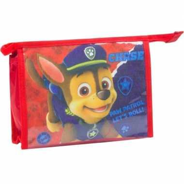 Toilettas paw patrol rood 21,5 cm voor kinderen