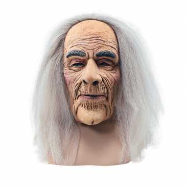 Feest verkleed abraham masker met lang haar