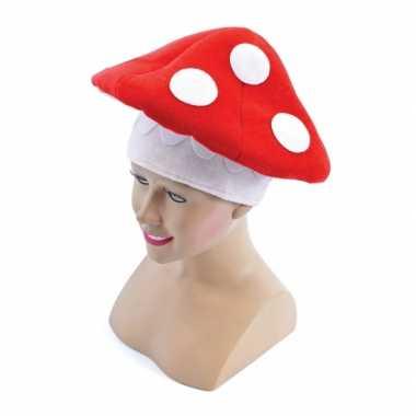 Feest verkleed paddenstoel hoed