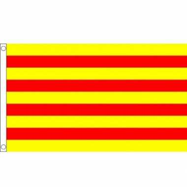 Feest vlag catalonie polyester 90 x 150 cm