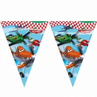 Feest vlaggenlijntje disney planes plastic 2 3 meter