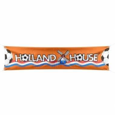 Feest voetbal holland spandoek 180 cm