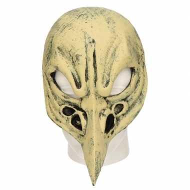 Vogel schedel horror masker van latex