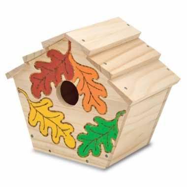 Feest vogelhuisje verf decoratie set