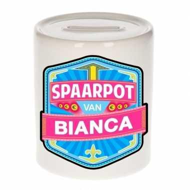 Feest vrolijke bianca spaarpotten voor kinderen