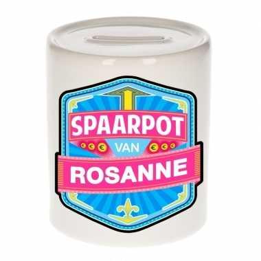 Feest vrolijke rosanne spaarpotten voor kinderen