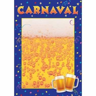 Feest wanneer en waar carnaval poster