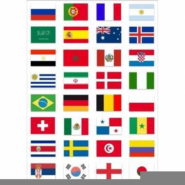 Feest wk voetbal 2018 landen vlaggen pakket