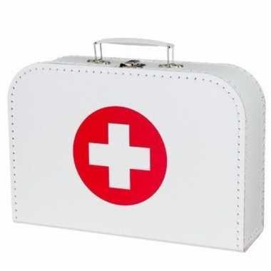 Feest ziekenhuis accesoires wit koffertje