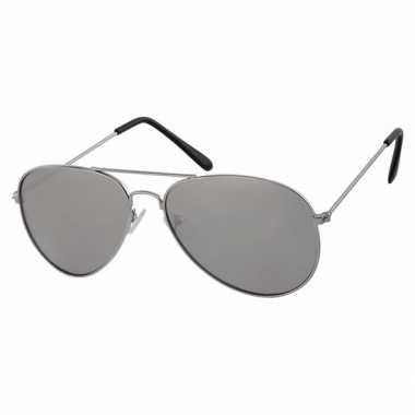 d1a9bc41ede402 Zilveren kinder piloten zonnebril met lichte glazen