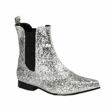 Feest zilveren mannen laarzen enkel model